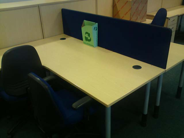 An image of There is no need to compromise quality and durability with W&N Solutions range of used desking goes here.